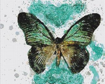 Vintage Butterfly Cross Stitch Pattern