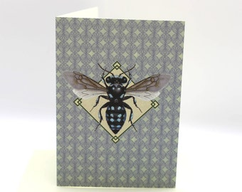 4-pack Chequered Cuckoo Bee cards