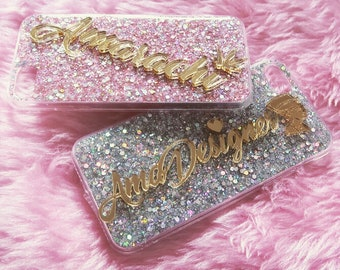 Personalised Sparkle Glitter Phone Case
