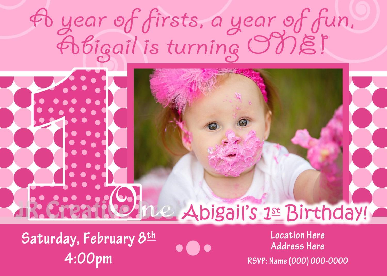 1st birthday girl invite 1st birthday girl invitation zoom stopboris Gallery