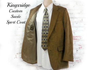 men's suede Sport coat, men's brown blazer, men's sports jacket, men's blazer,    # 204