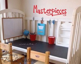 Childrens Playroom Wall Decals - Masterpiece Decal - Childrens Wall Decals - Childrens Art - Kids Art Display - Playroom Art Wall 127