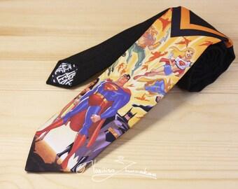 Justice League tie - tie marvel comics, Superhero