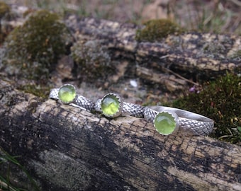 Peridot and Snakeskin Ring