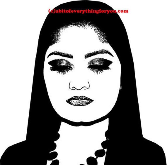 Mexican womans face printable wall art download clipart digital image graphics digital print pictures home living room bedroom decor