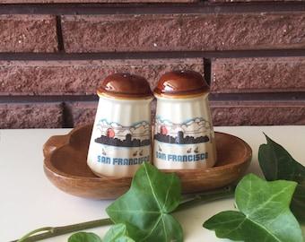 Vintage San Francisco Salt & Pepper Shakers