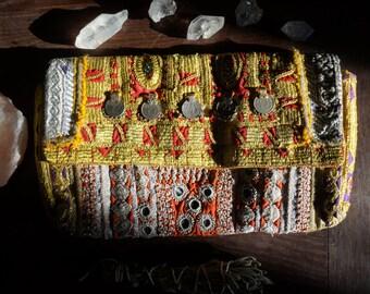 Handmade Banjara clutch bag from India