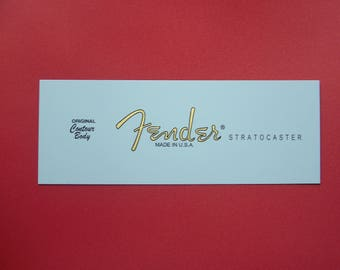 Custom Waterslide Decal for Fender Stratocaster in Gold Metallic - Two with every order