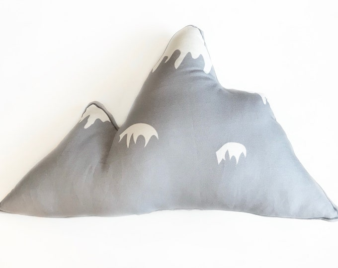Grey Mountain throw pillow