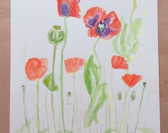 Original Painting Watercolour and mixed media