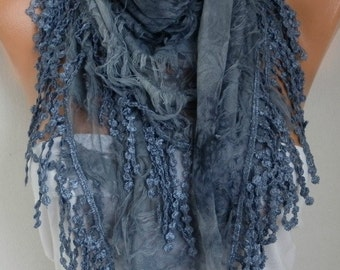 Gray Printed Scarf,  Teacher Gift, Summer Shawl Scarf, Cowl Gift Ideas for Her,Women Fashion Accessories best selling items