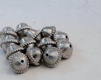 Sliver Plated CCB Acrylic Large Saucer Round Beads, 18mm Rounds