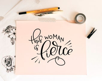 This Woman is Fierce svg cutting file, clip art, wall art