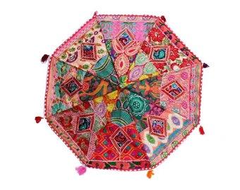 Beautiful Handcrafted Large Decorative Bohemians Embroidery Parasol Hippie Gypsy Ethnic Garden Umbrella