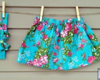 READY-to-GO/READYTOGO - skirt & headband - all - girl - floral print - skirt and headband - babyset - babygirl