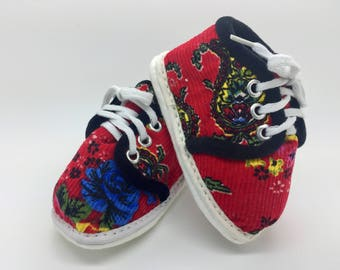 Handmade Floral Lace Ups