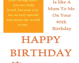 Like a um 40 Birthday Card with a removable laminate