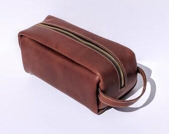 Dopp Kit Leather Travel Bag
