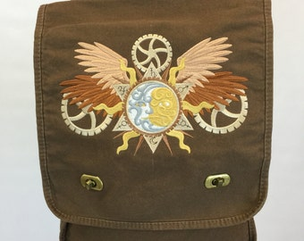 Field Bag - Alchemy Sun & Moon, Embroidered