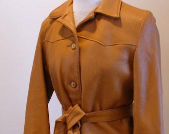 Vintage Belted Deerskin Leather Jacket