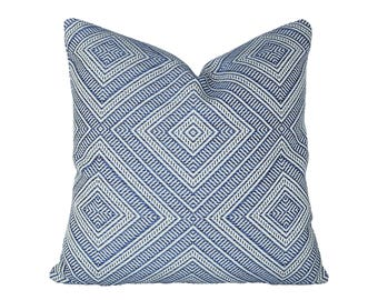 Tortola Marine designer pillow covers - Indoor/Outdoor - Made to Order - Schumacher