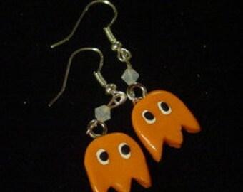 Pac Man Ghost Earrings