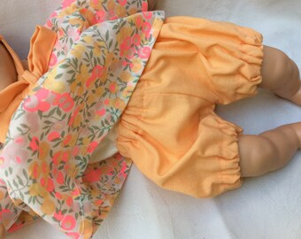 Doll 30 cm apricot cotton bloomers