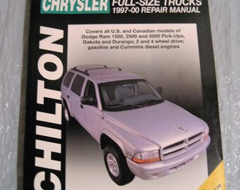 CHILTON CHRYSLER full-size trucks 1997-00 brand new