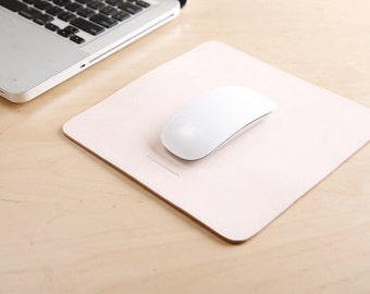 RCLAB designs, Leather Mouse Pad, Mouse Pad, Leather mousepad, Monogram Mousepad, Laser engraved, Personalize mousepad