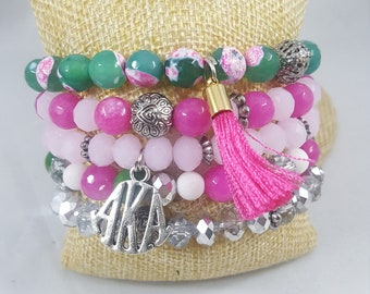 Sororoity Bracelet Stacks- AKA