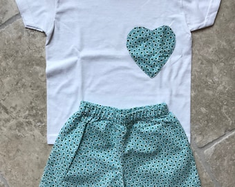 Green jelly bean summer pajama for girls