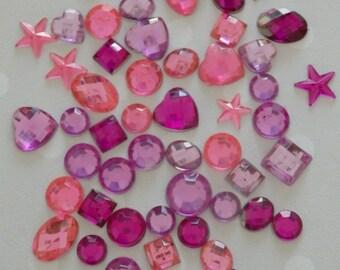 Plastic Gemstones, crafting gemstones, scrapbooking gemstones, Kunststoff-Edelsteine, Pierres précieuses en plastique, plastic gemstones,