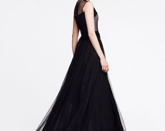 Black maxi dress l ROSE_line