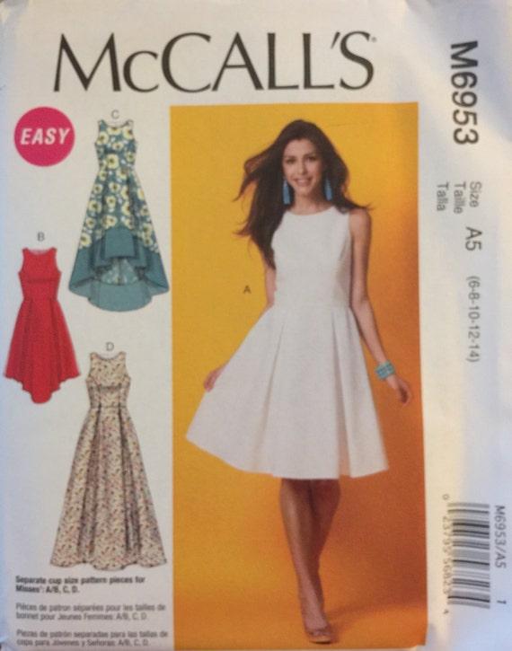 McCall\'s M6953, Size 6-8-10-12-14, Misses\' Dresses Pattern, UNCUT ...