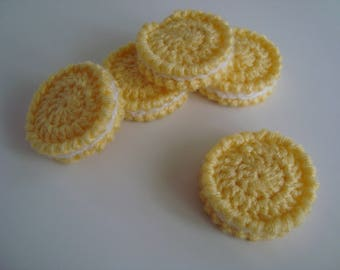 Crochet cookies, Play food, Crochet food, Educational toy, Kitchen toys