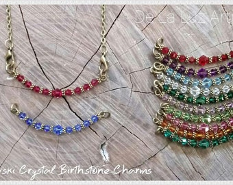 Swarovski Birthstone Charm Necklace / Bracelet - Customizable