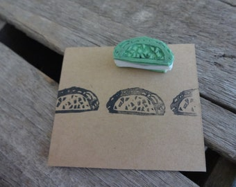 Unmounted Hand Carved Stamp: Taco Tuesday!  Paper Crafting, Scrapbook, DIY Craft, Envelope Seal,