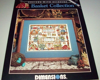 Basket Collection Counted Cross Stitch Pattern Leaflet