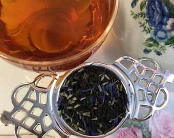Blue Velvet Black Tea Lavender Cornflowers Free Mesh Infuser Spoon
