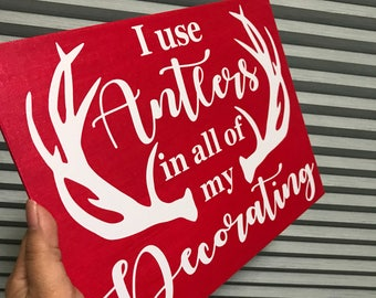 I Use Antlers In All of my Decorating, Beauty & the Beast, Gaston, Disney Canvas Quote
