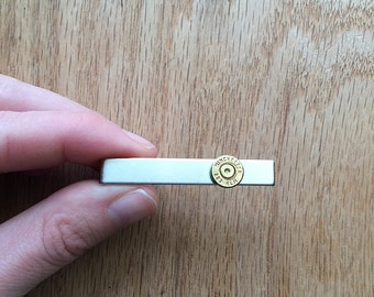 Winchester .223 bullet tie clip | gift for him | groomsmen gift | tie bar