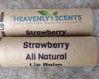 Heavenly Scents All Natural Lip Balm - Strawberry Flavor
