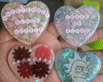 Custom Heart Resin Charms