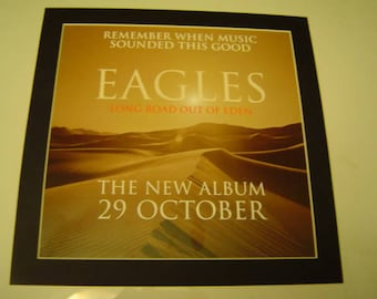 Eagles Long Road Out Of Eden    Poster in A Custom Made Mount Ready To Frame