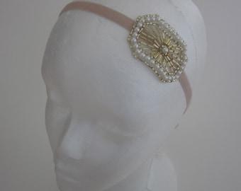 1920s Hair Piece, Gatsby head piece, Fascinator Fascinator, Hair Accessories Wedding Headband Daisy Buchanan Costume Party Beaded Costume