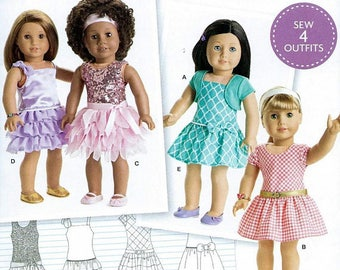 """18"""" Doll Clothes Pattern by Simplicity-8360, 18"""" DollClothes- Fits American Girl Dolls. Brand new and uncut"""