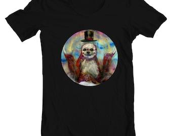 Sloth T-Shirt - Sloth Tee - Sloth Artwork - Slothske by Black Ink Art