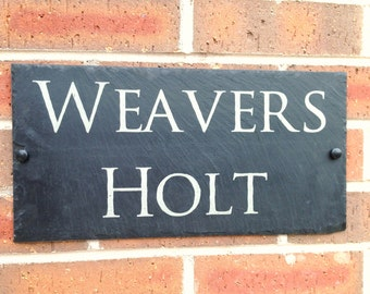 Slate House Sign Door Number House Name Sign Plaque Address Any Name 1 - 9999 10 sizes to choose from LARGEST SIZE A3 - 40x30cms