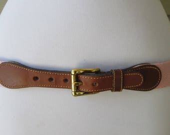 Dooney and Bourke Womens Pink and Brown Leather Belt M to L