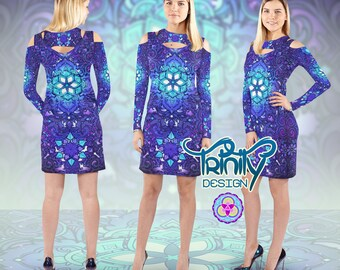 Music Festival Clothing EDM Clothing Rave Outfit Rave Clothing Psychedelic Dress Psy Trance Hippie Clothes Trippy Hippie Dress Gypsy Dress